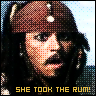 She took the rum